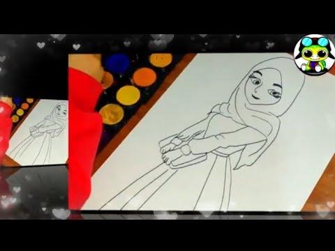 Tesetturlu Genc Kiz Cizim Boyama Sayfasi 1 Youtube