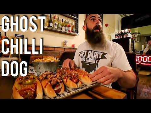Undefeated Ghost Chilli Hot Dog Challenge!