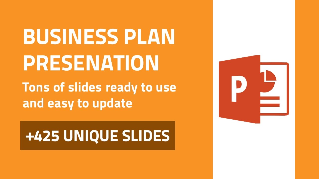 Business plan best powerpoint presentation template youtube wajeb Image collections