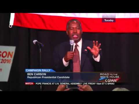 Presidential Candidate Ben Carson Campaign Rally in Sharonville Ohio