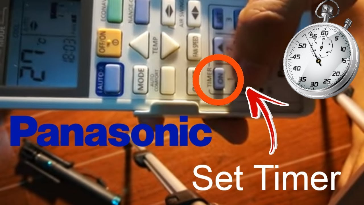 How to set timer on and off | Panasonic Remote Controller
