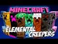 ELEMENTAL CREEPERS MOD MINECRAFT 1.9 Y 1.7.10 ESPAÑOL | Creepers elementales y randoms