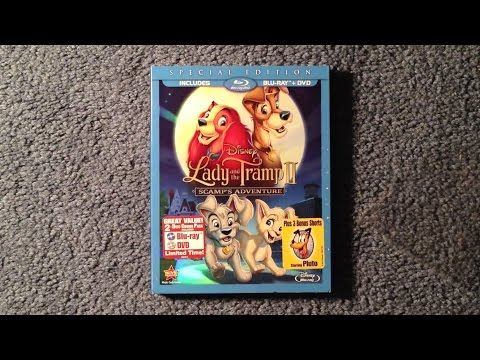 Unboxing Lady and the Tramp II: Scamp's Adventure Blu-Ray/DVD