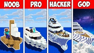 Minecraft Noob Vs Pro Vs Hacker Vs God  Secret Block Boat In Minecraft  Animation
