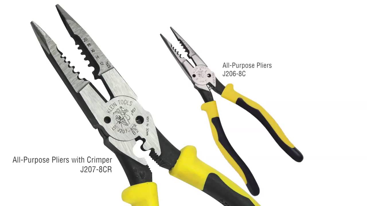 Klein new All Purpose pliers with crimper Made in USA - YouTube
