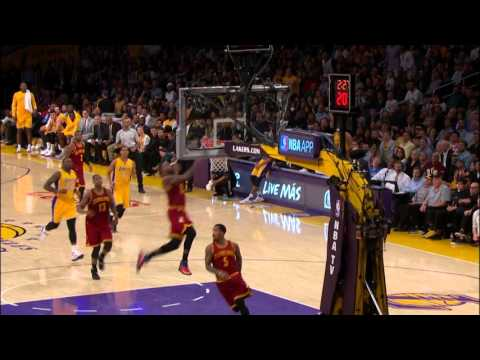 JR Smith Lobs It Off The Backboard To LeBron James For The Jam!