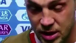 Дзюба с плачет и благодарит страну (Россия-Хорватия)