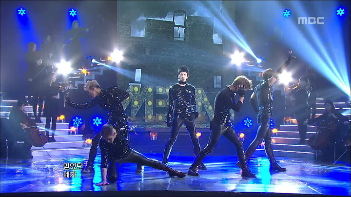 mblaq  this is war    music core 20120121