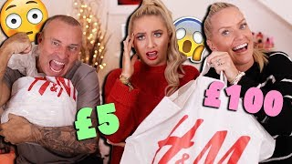 MUM VS DAD H&M OUTFIT CHALLENGE!!! 😱 *unlimited budget wtf* 😭