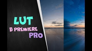 LUTS для Adobe Premiere Pro | Как использовать луты | Скачать луты под видео