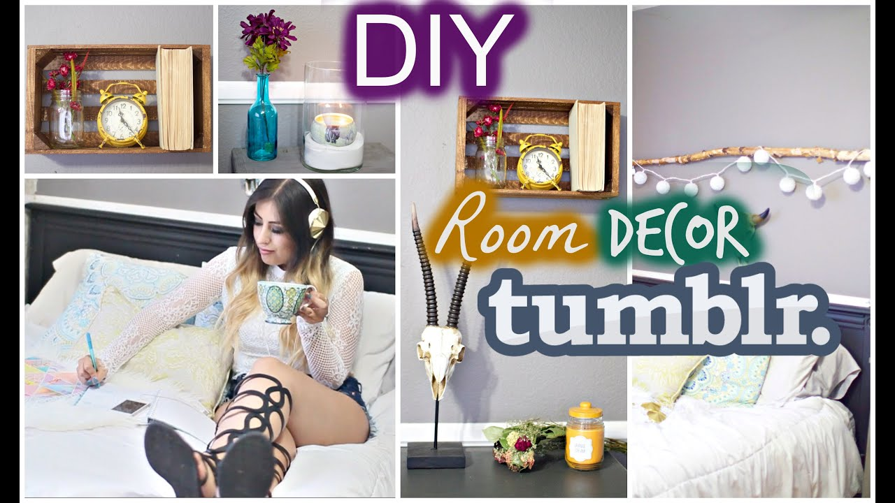 DIY Room Decor: Tumblr U0026 Bohemian Inspired   YouTube