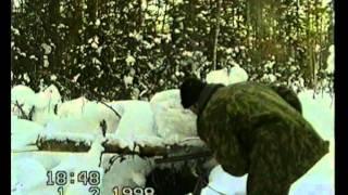 Siberian hunters meet a bear