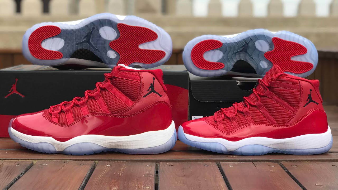 Air Jordan 11 Gym Red/Chicago for men and GS HD Review