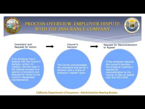 Dispute Resolution Process for Workers' Compensation Insurance Policyholders