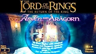 Return of the King Slot Bonus - Arwen & Aragorn, Big Win!