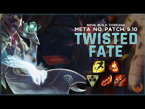 NOVA BUILD COREANA META NO PATCH 9.10 *TF ONHIT* - TWISTED FATE MID GAMEPLAY [PT-BR]