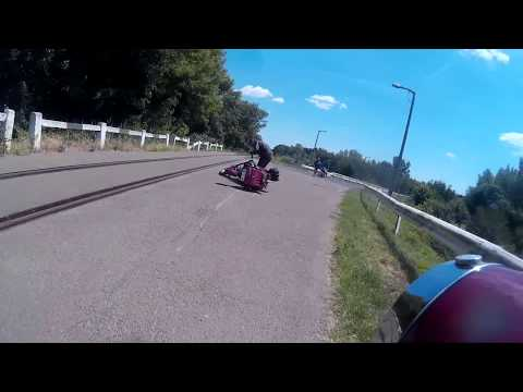 Jawa 250 crash Maďarsko