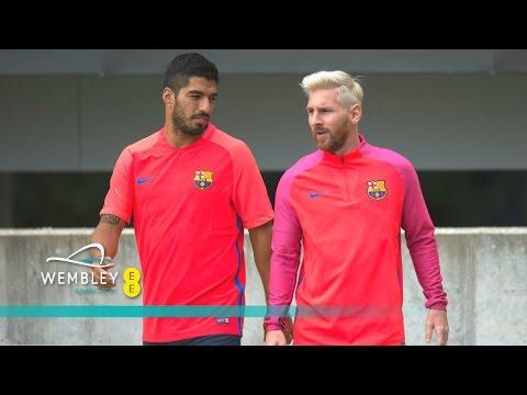 Suarez, Messi & FC Barcelona train at St George