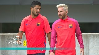 Subscribe to fatv: http://bit.ly/fatvsub lionel messi, luis suarez and co train at st george's park (england) ahead of their trip dublin (ireland) where t...