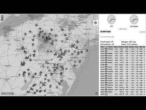 Raspberry Pi Dump1090 ADSB Map Time Lapse