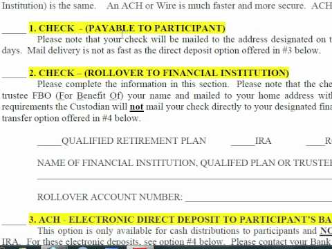 Participant Website: How To Complete Loan and Distribution Forms