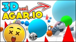 BRAND NEW IO GAME ⭐ 3D AGAR.IO - THE REAL DEAL & BECOMING THE BIGGEST |Agar.io Simulator (Orn.io)