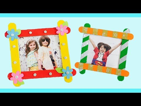 DIY Photo Frame with Ice cream Sticks | Photo Frame With Popsicle Sticks