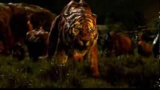 The Jungle Book (2016) Shere Khan VS Baloo Clip in (HD) thumbnail