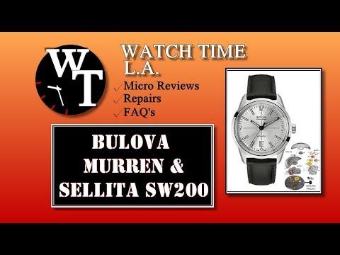 Bulova Murren (64B127) Review & close-up of the Sellita SW200 Movement