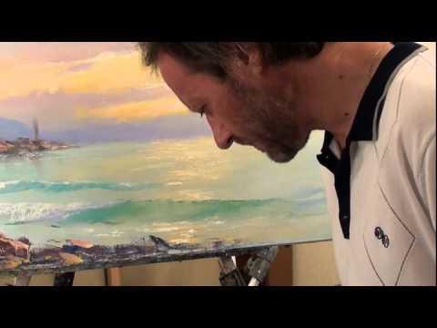Закат на море видеоурок