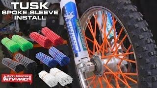 Tusk Dirt Bike Colored Spoke Sleeves Installation