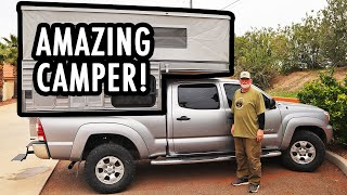 Touring an Amazingly Spacious Small Pop-Up Truck Camper! (Four-Wheel Campers Tour)