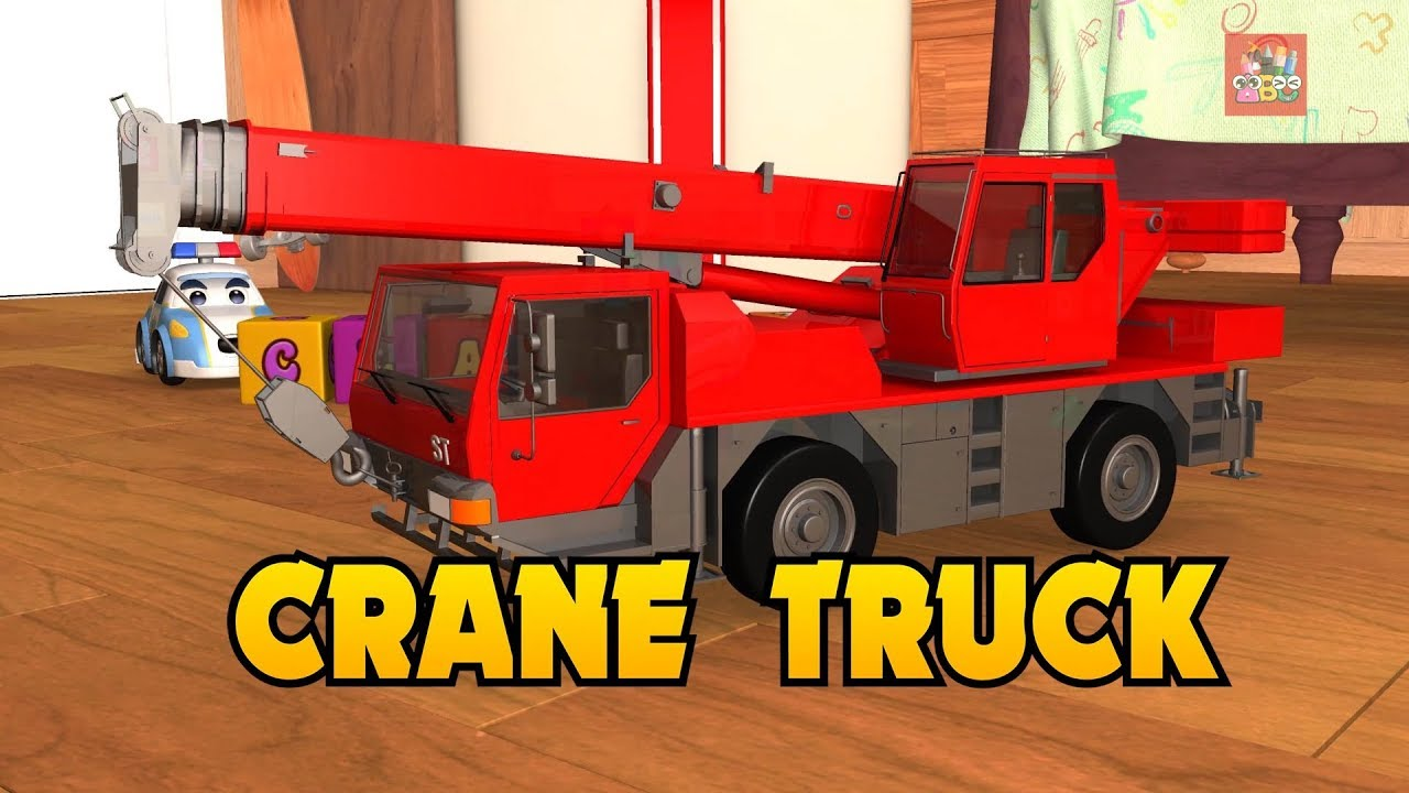 Learning Color with City Vehicle CraneTruck drawing nursery rhymes play for kid