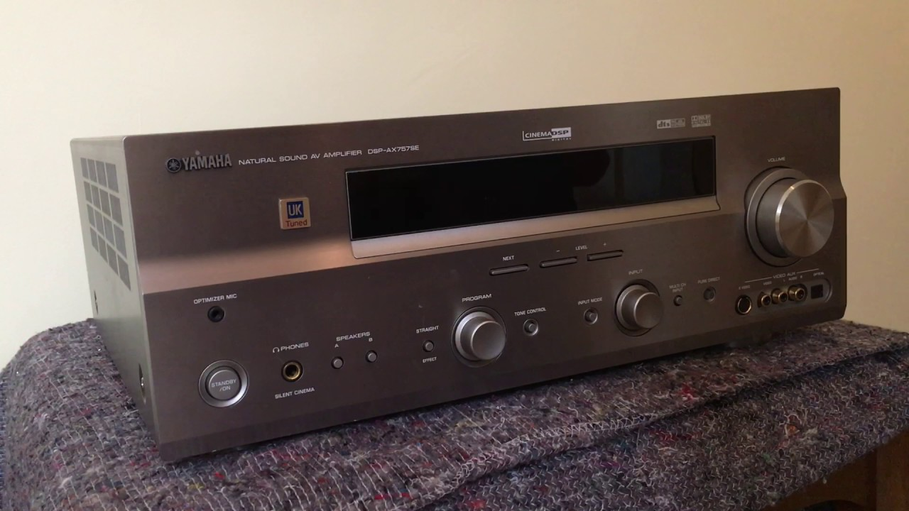 how to reset the yamaha dsp ax 757se receiver amplifier