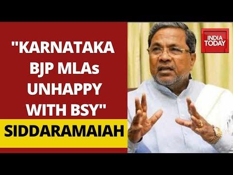 Siddaramaiah's Explosive Claims; Says Karnataka BJP MLAs Unhappy With BS Yediyurappa