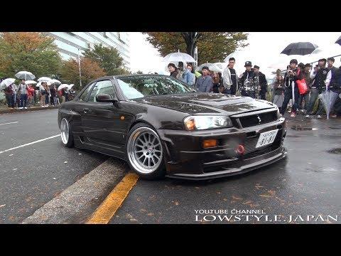 【Nissan skyline R34 GTS GTR?】ワイドなスカイライン集団 – 2015 StanceNation Japan – lowcar・極低・車高短 ・スタンスネーション