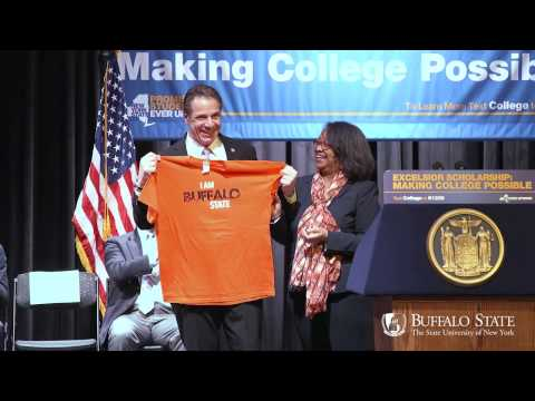 NYS Governor Andrew Cuomo's Excelsior Scholarship Rally at Buffalo State