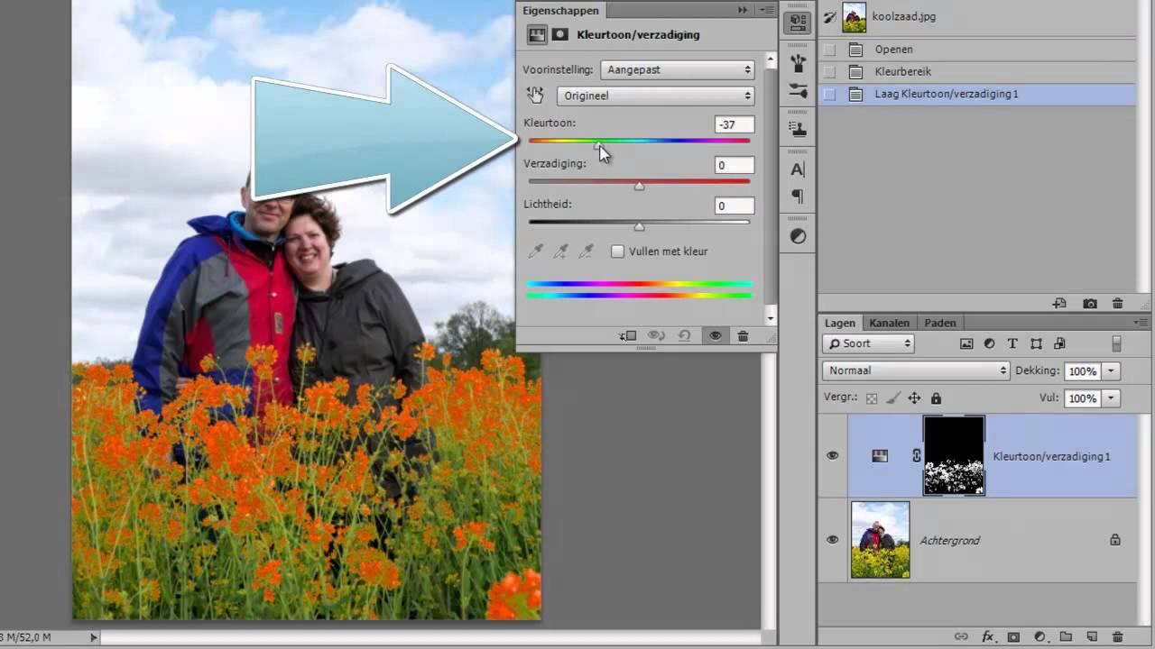 kleur veranderen in foto met photoshop