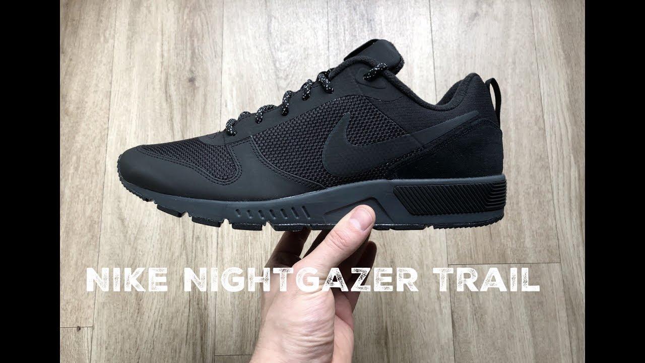 Nike Nightgazer Trail ˋblack´ | UNBOXING & ON FEET | fashion shoes | 2017 |  HD