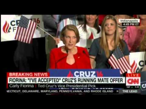 Carly Fiorina Sings To Ted Cruz