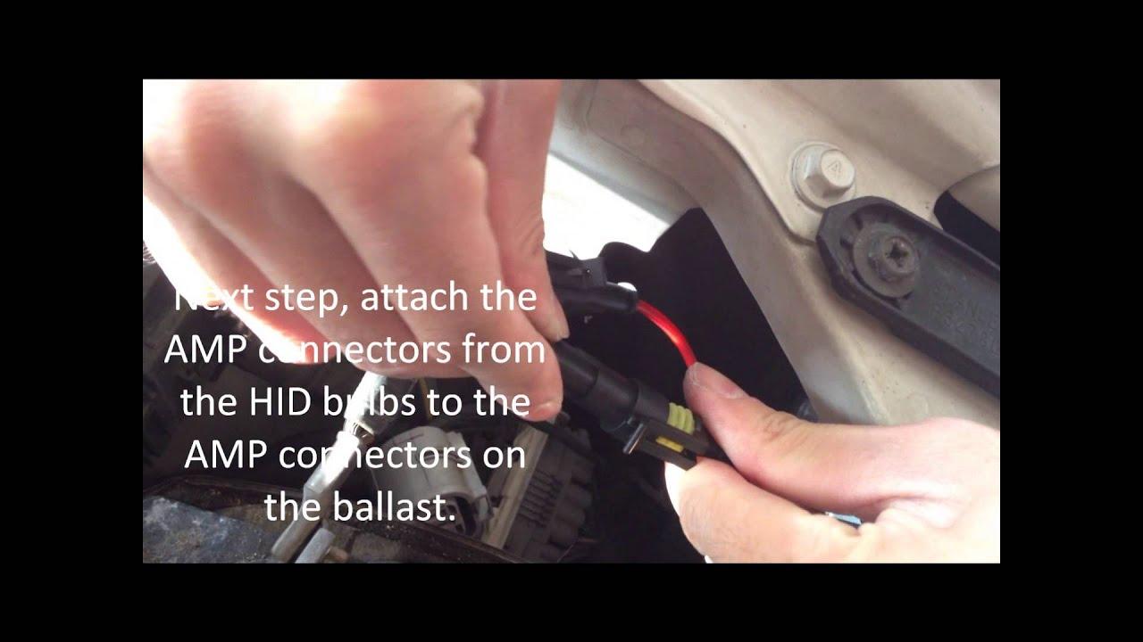 medium resolution of 9004 9007 high low hid kit installation