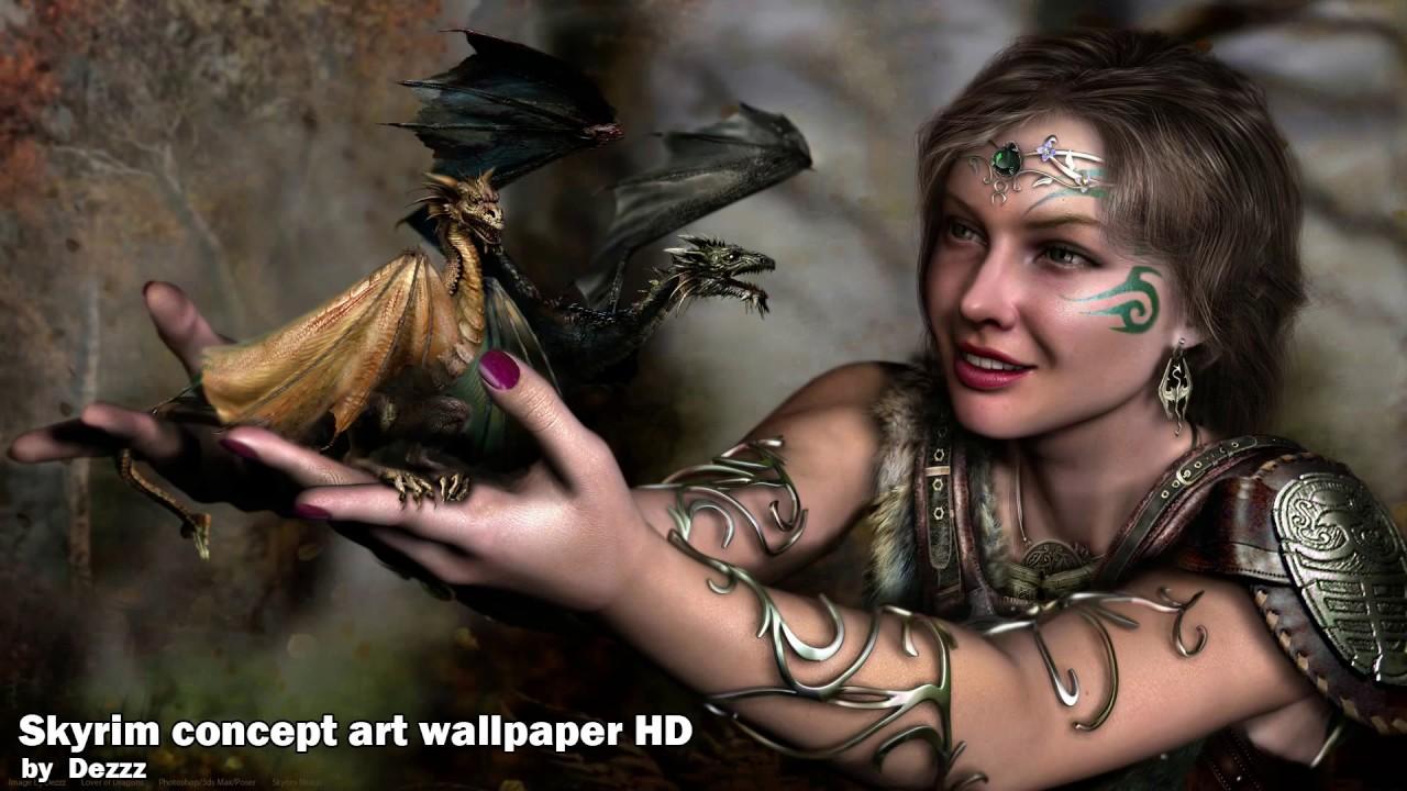 Skyrim Concept Art Wallpaper Hd At Skyrim Nexus Mods And Community
