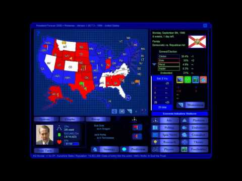 US 1996 Presidential Election Game: Dole (me) vs Clinton