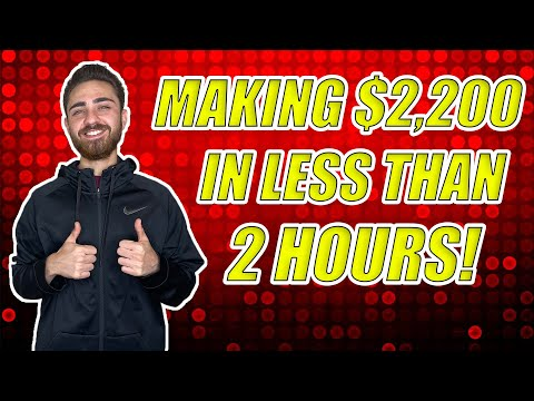 How To Make $2,200 in Two Hours Trading Stock Options | Stock Trading for Beginners