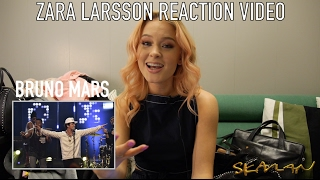 Zara Larsson reacts to Skavlan guests (Adele, Bruno Mars, Rihanna, Kanye West, SKAM-Noora)