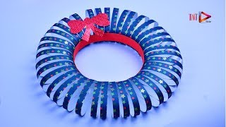 Easter Christmas Wreath Tutorial | X-Mas Decor Idea with Paper | Paper Craft