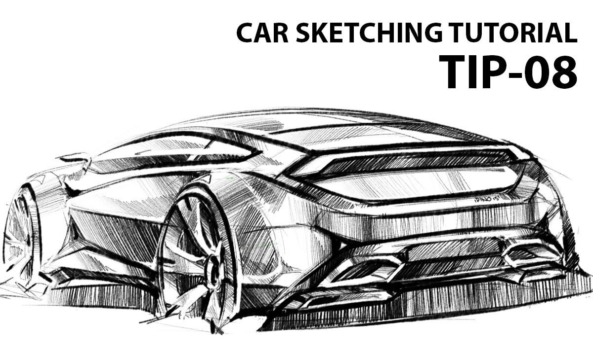 Car Sketching Tutorial By Marcin Tip 08 Youtube