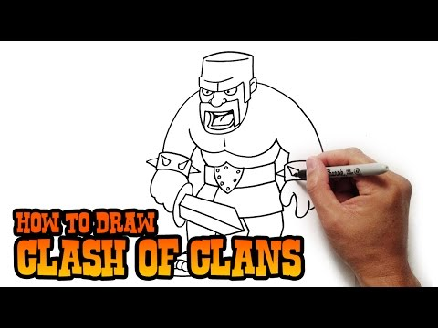 How to Draw Barbarian | Clash of Clans