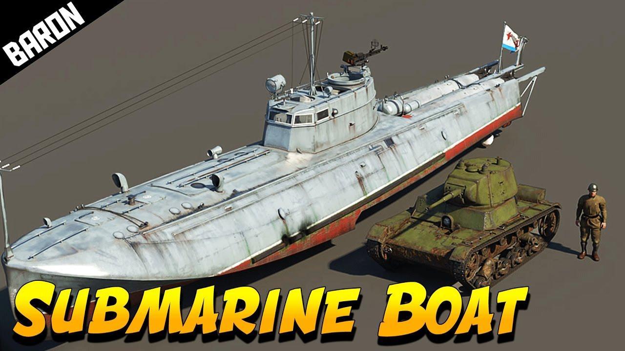 G-5 Russian SUBMARINE BOAT - War Thunder Ships - YouTube