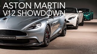 V12 Aston Martin test with STG and RC. Vanquish S - V12 Vantage - DB11